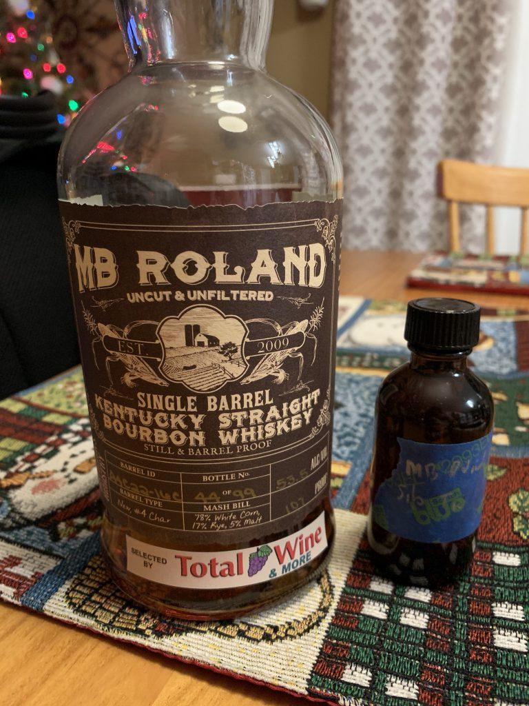 MB Roland Single Barrel Kentucky Straight Bourbon Whiskey Total Wine Selection