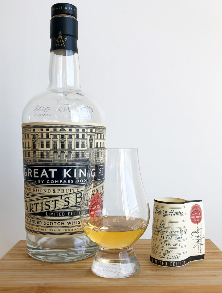 Compass Box Great King Street Artists Blend Single Marrying Cask Bounty Hunter Selection