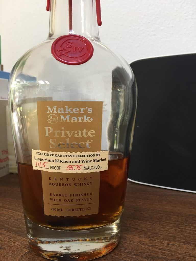 Makers Mark Private Selection Emporium Kitchen and Wine Selection