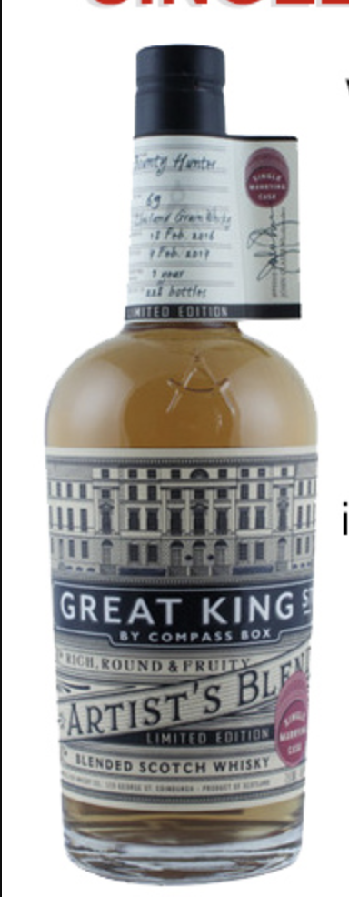 Compass Box Great King Street Single Marrying Cask The Party Source Selection