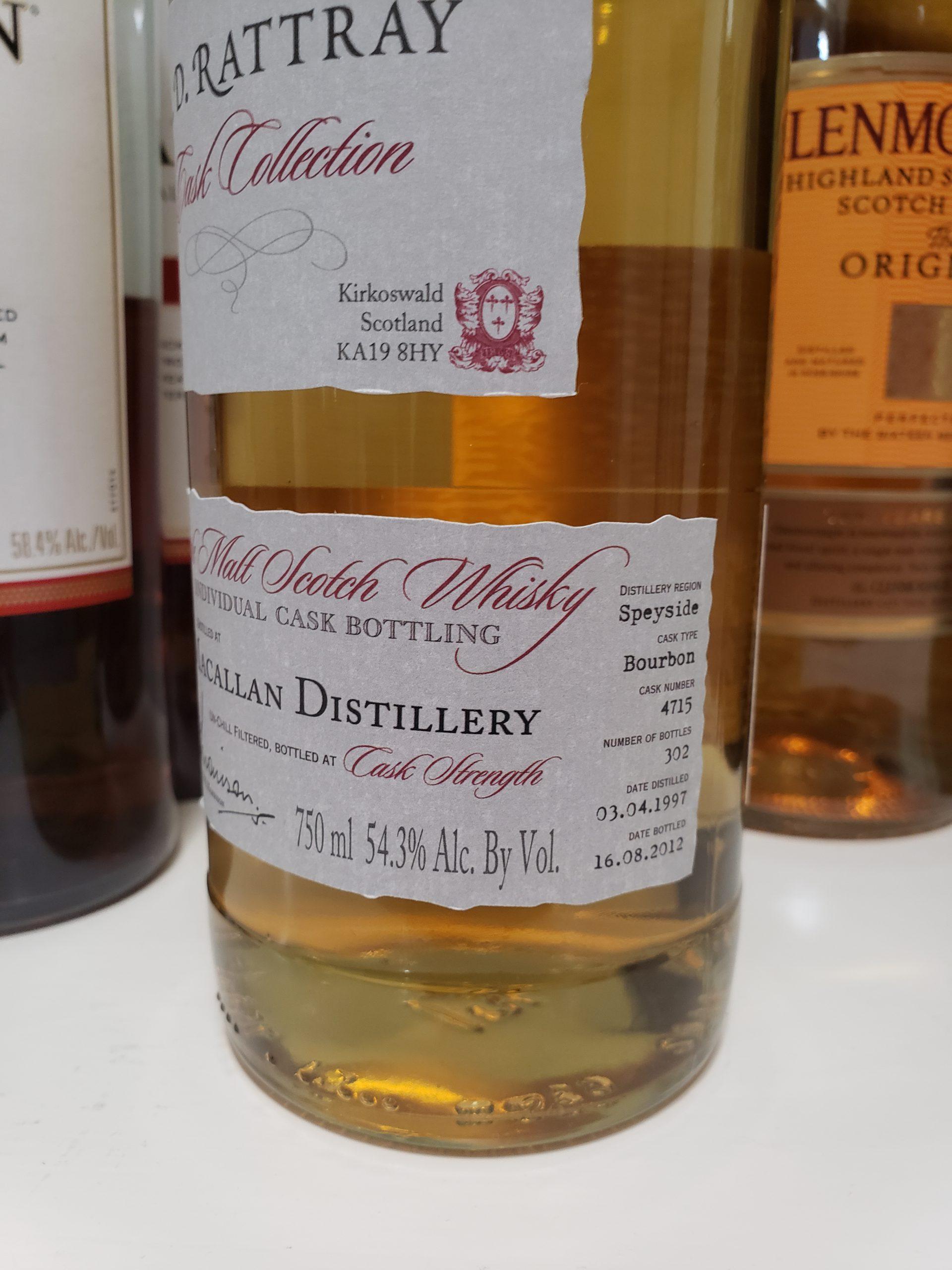 Macallan 15yr A.D Rattray 1997 Bourbon Cask