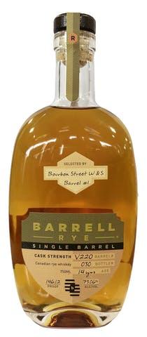 Barrell Craft Spirits 14yr Single Barrel V220 Rye Bourbon Street Wine and Spirits Selection