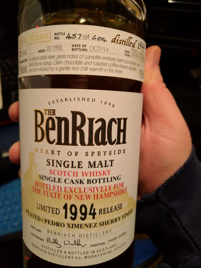 Benriach 20yr Single Cask #4300 - Heavily Peated PX Finished