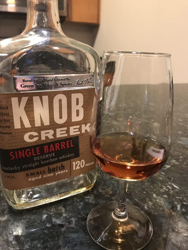 Knob Creek Single Barrel Reserve Green Jug Wine and SpiritsLead post image