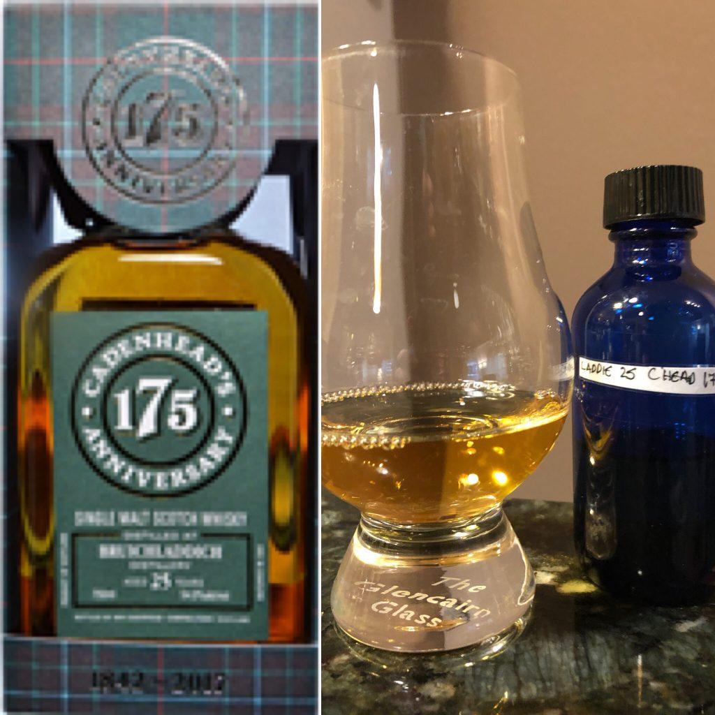 Bruichladdich 25yr Cadenheads 175th Anniversary Bottling