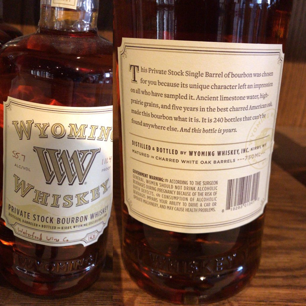 Wyoming Whiskey Waterford Wines Private Stock Barrel 1631Lead post image