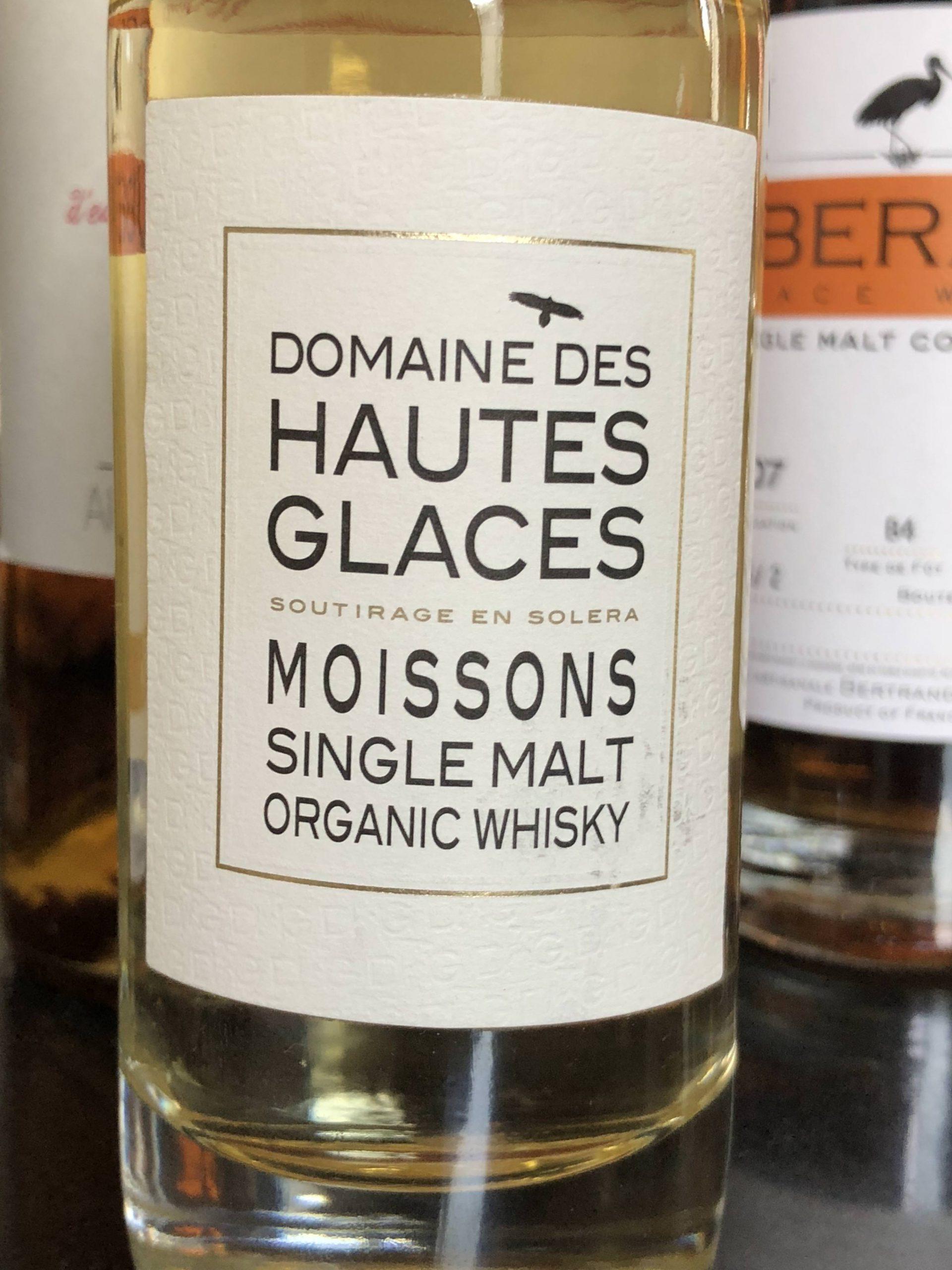 Domaines des Haute Glaces Organic Single Malt Whisky