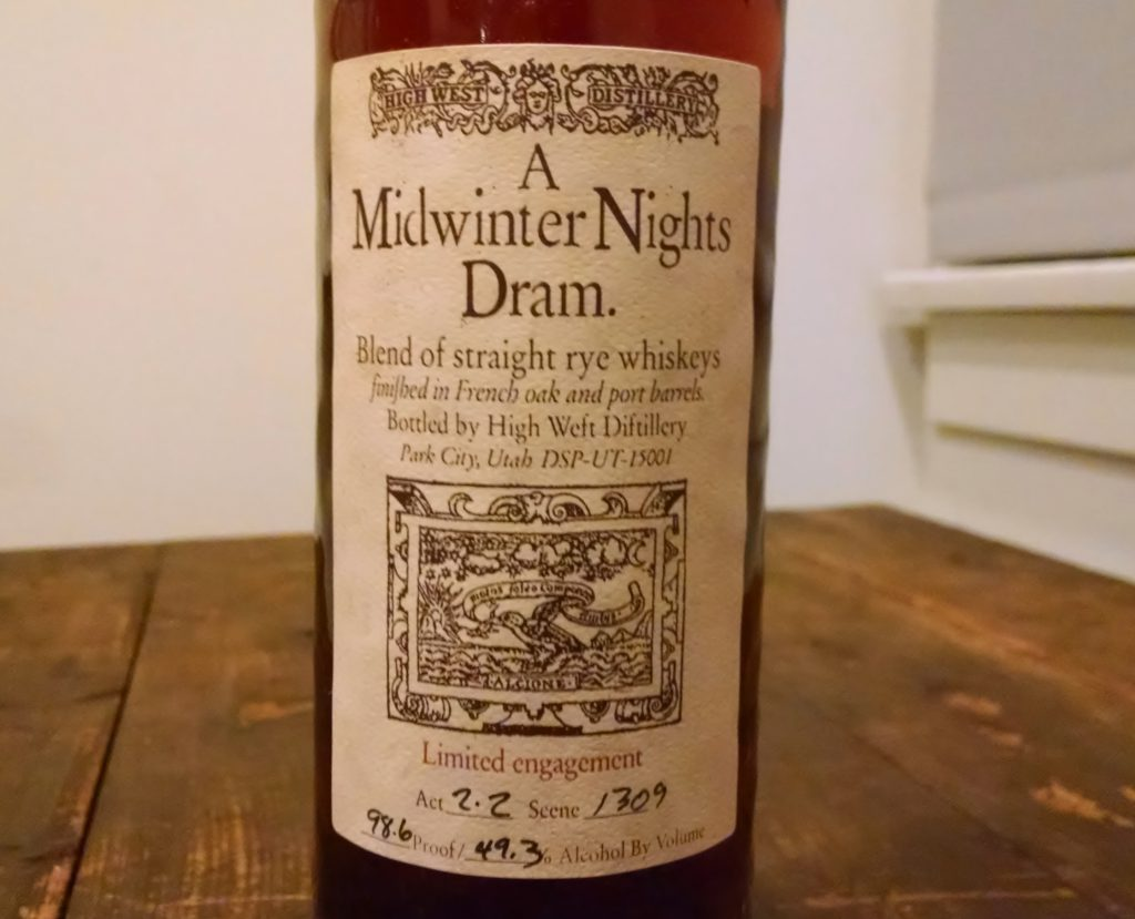 High Wests A Midwinters Night Dram Act 2