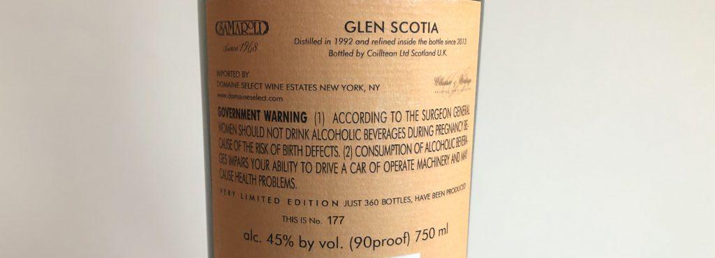 Glen Scotia 21 Year Samaroli 1992Lead post image
