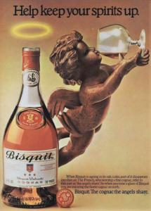 Vintage Advertisement Using Angel's Share