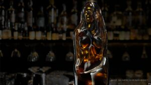 American Woman Whiskey Bottle