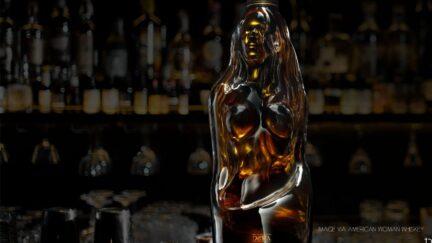 American Woman Whiskey Bottle