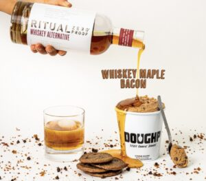 Booze-less whiskey infused cookie dough