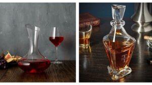 Wine vs. Whiskey Decanter