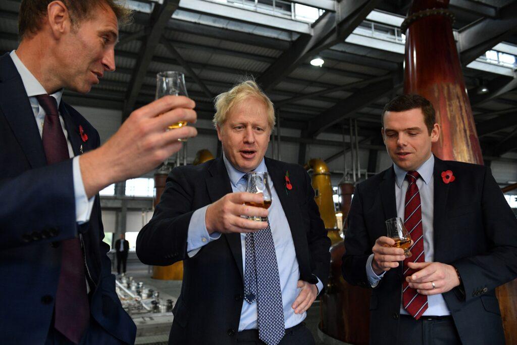 Boris Johnson Enjoys Scotch Whiskey
