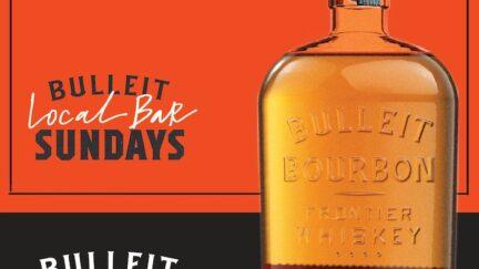 Bulleit Local Bar Sundays. Image via Diageo.